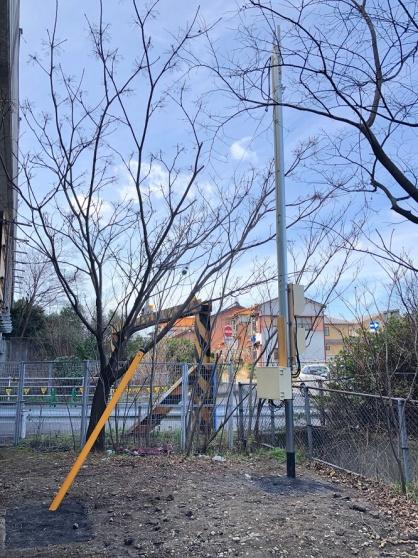 愛知県清須市の仮設現場にて仮設電源(動力・電灯)の引込電気工事NO.4