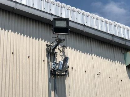 駐車場投光器の取替電気工事