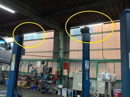 工場での照明器具取替電気工事