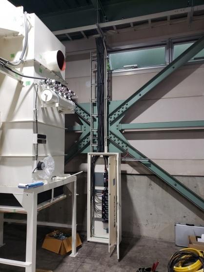 新設機械用の電源ブレーカー設置及び配線