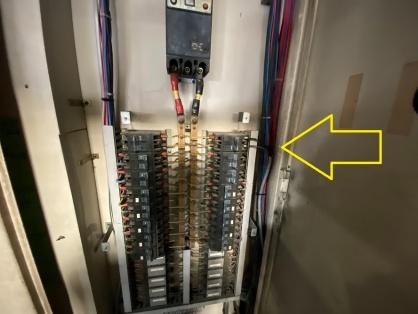 エアコン用コンセントの新設電気工事