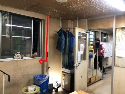 倉庫のエアコン取替電気工事