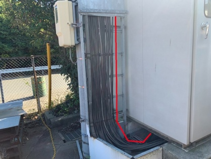 機械設置に伴う分岐開閉器新設電気工事