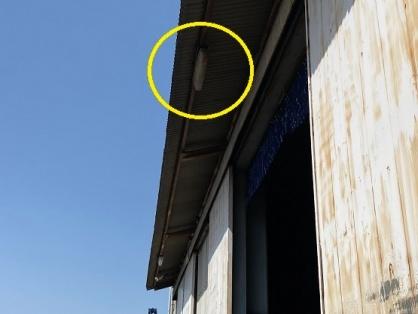 軒下照明の取替電気工事