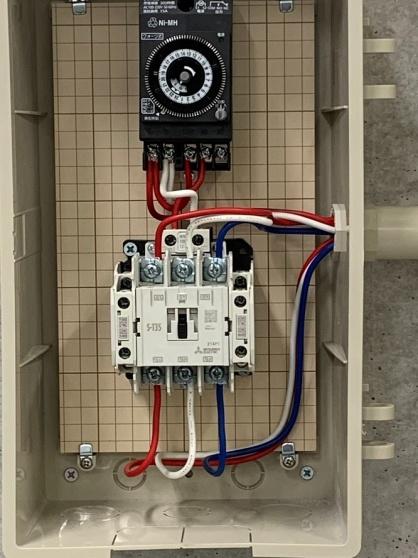 タイマースイッチの取付電気工事