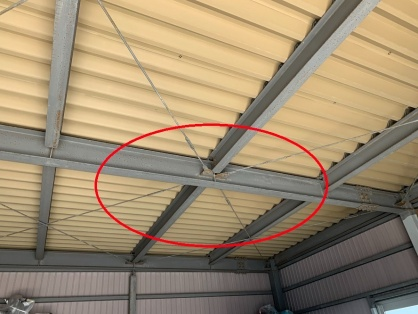 倉庫の低圧電灯引込及び負荷設備設置電気工事